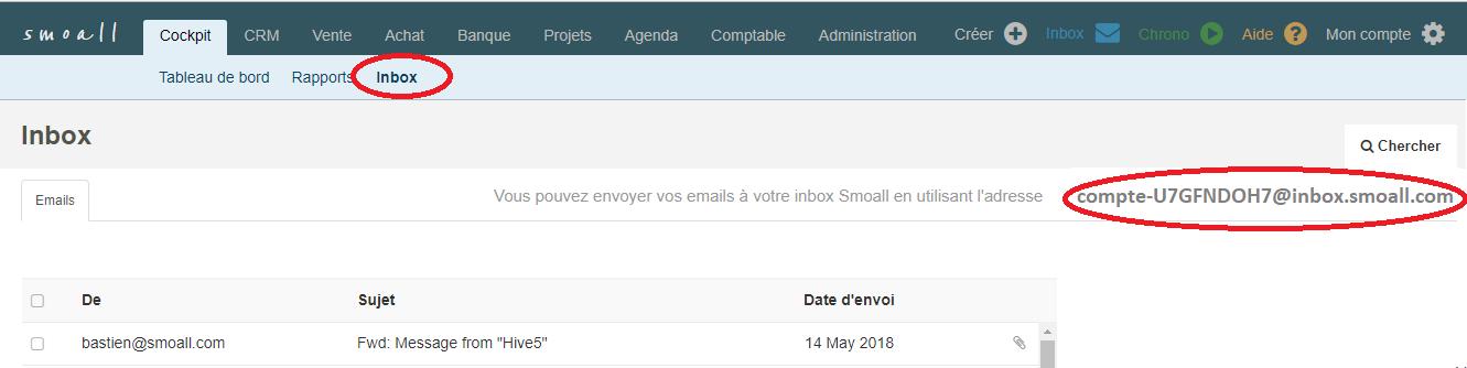 Smoall - adresse e-mail inbox Smoall