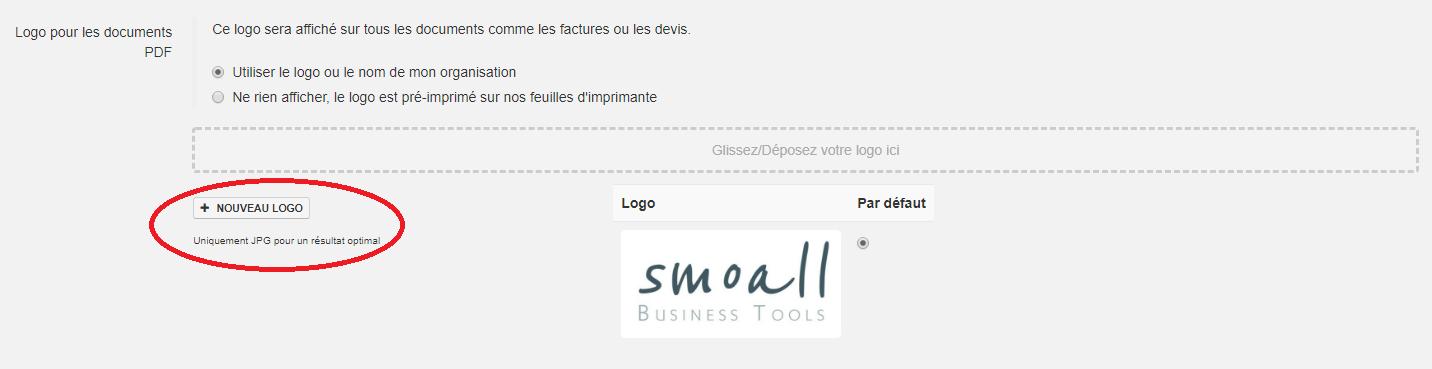 Smoall - importer un logo