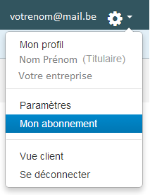 Smoall - Option Mon abonnement de l'application Smoall Business Tools
