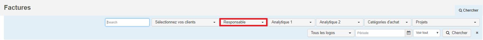 Smoall - critères de recherche factures vente-responsable