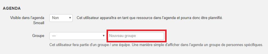 Smoall-Groupe agenda