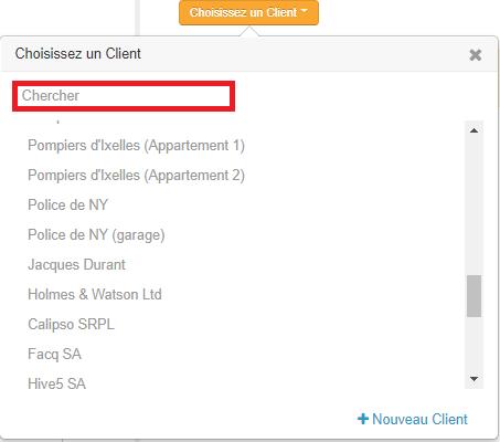 Smoall-Chercher client dans Choisissez client