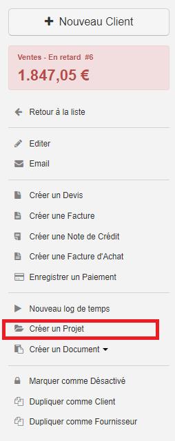 Smoall-Projet-création au départ fiche client