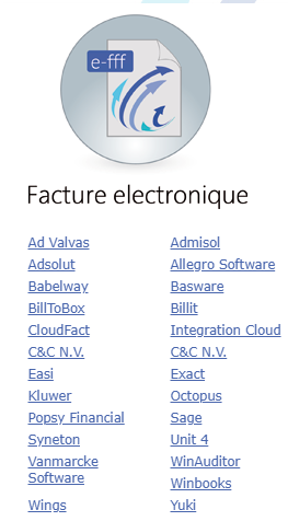 Smoall-Logiciels compatibles e-fff