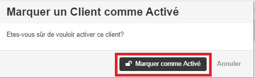 Smoall-Activer un client confirmation