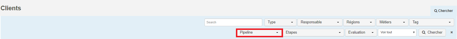 Smoall-Clients-Critères de recherches par pipeline