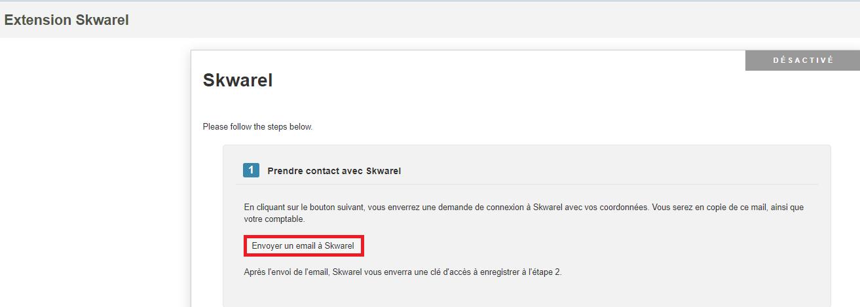 Smoall-Extension Skwarel-Envoyer email à Skwarel