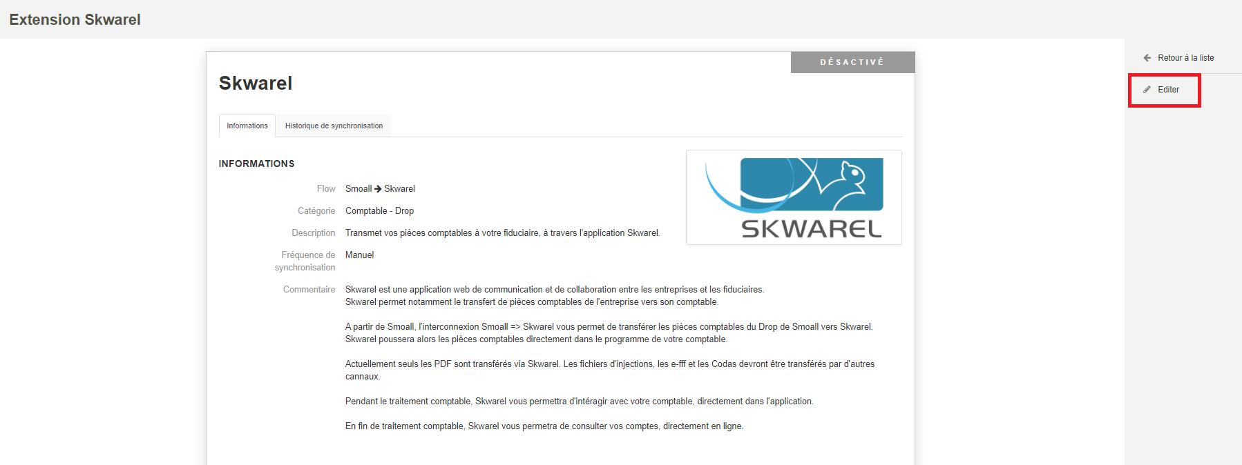 Smoall-Extensions-Editer extension Skwarel